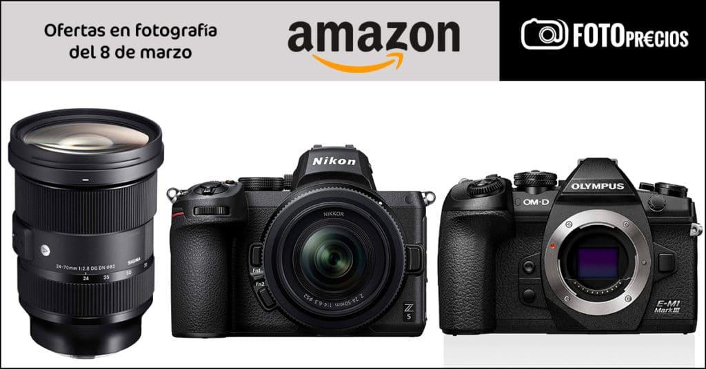 Ofertas Nikon Z5 y Olympus E-M1 Mark III.