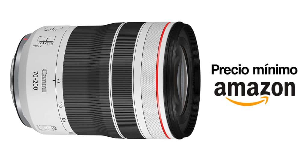 Precio mínimo por el Canon RF 70-200mm F4L IS USM en Amazon.