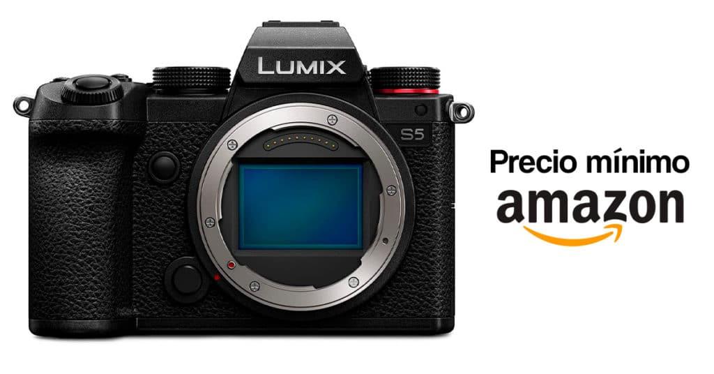 Precio mínimo histórico por el cuerpo de la Panasonic Lumix S5 en Amazon.