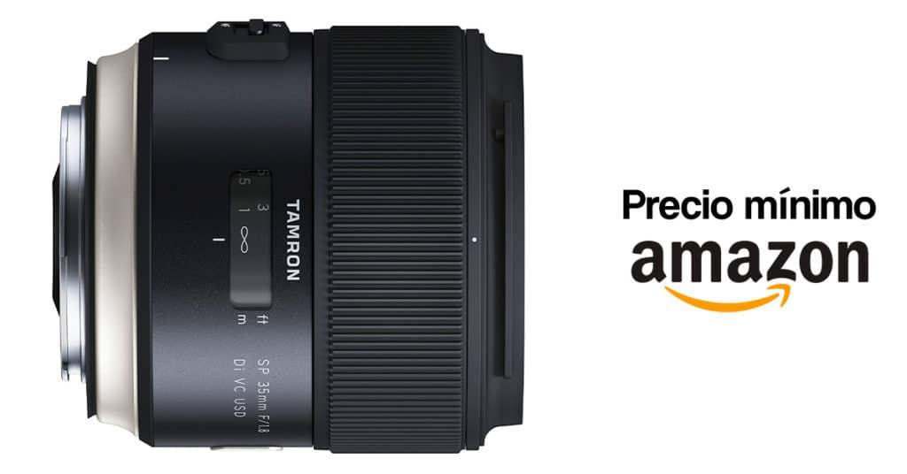 Precio mínimo histórico del Tamron 35mm F1.8 para Nikon y Canon.