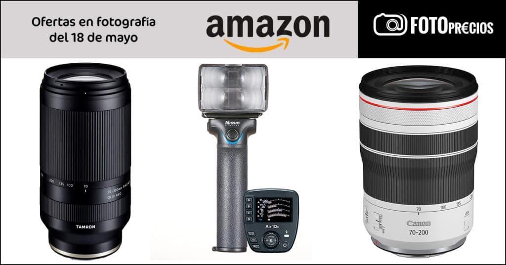 Precios mínimos en fotografía del 19 de mayo en Amazon: Canon RF 70-200 F4, Tamron 70-300 Sony E.
