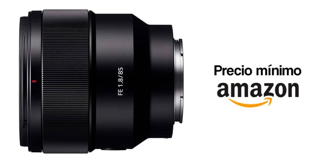 Sony 85mm f/1.8 precio mínimo en Amazon.