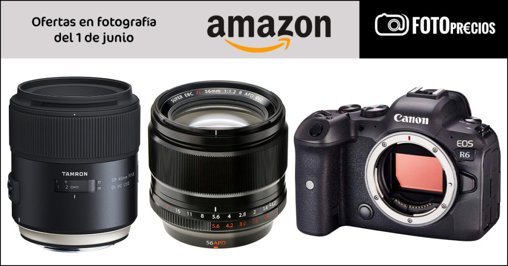 Foto Precios mínimos de Canon R6, Tamron 45mm F1.8 Nikon, Fujinon 56mm F1.2...