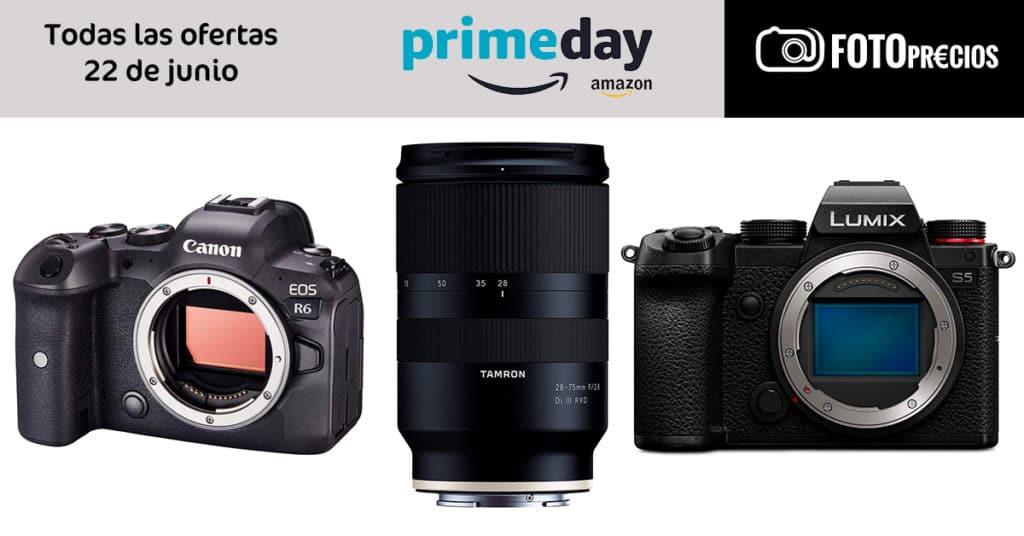 Ofertas del Amazon Prime Day 2021 en cámaras, objetivos de fotografía.
