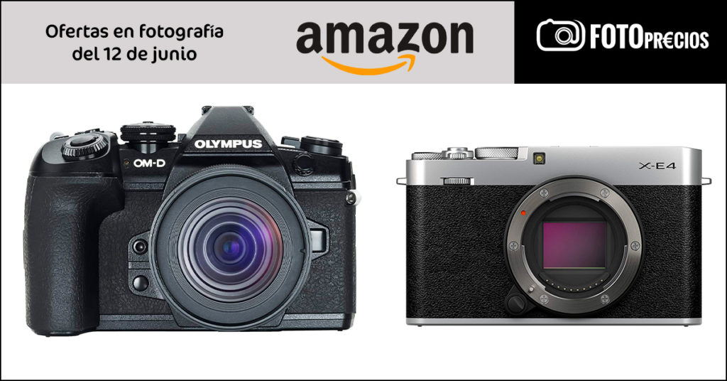 Precios mínimos Fujifilm X-E4 y Olympus E-M1 II + 12-45mm.