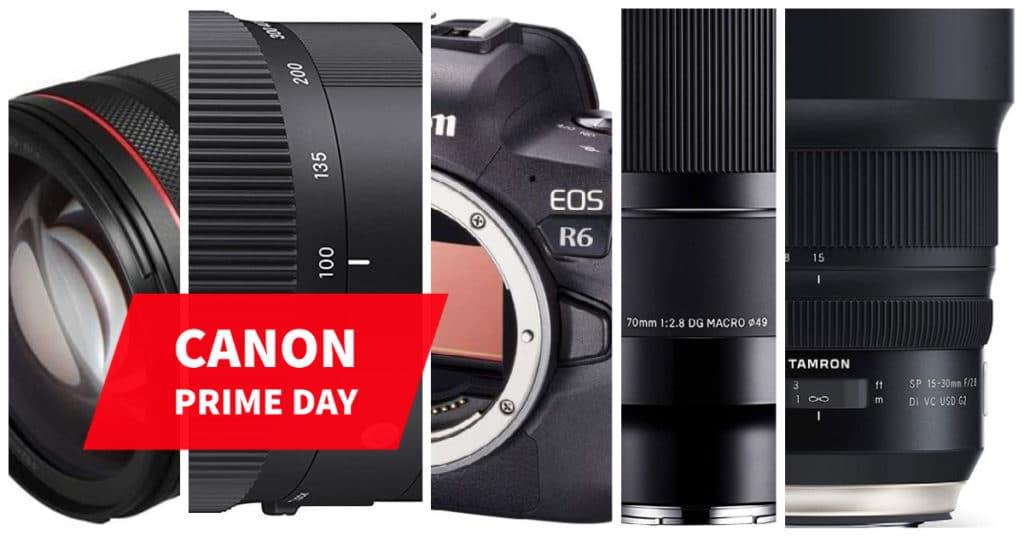 Mejres ofertas de Canon en el Prime Day fotográfico 2021 de Amazon: cámaras, lentes y accesorios.