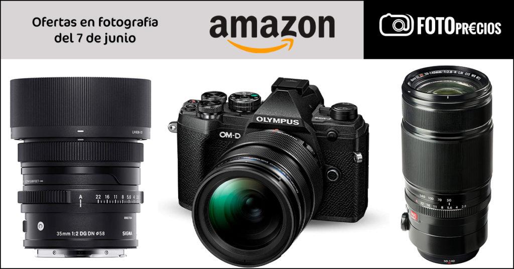 Precios mínimos para Sigma 35mm F2 Sony, Olympus EM5 III, Fujinon 50-140 F2.8.