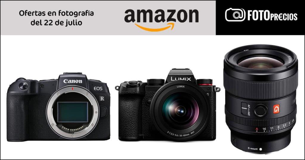Precios mínimos en Amazon: Panasonic Lumix S5, Canon RP, Sony 24mm