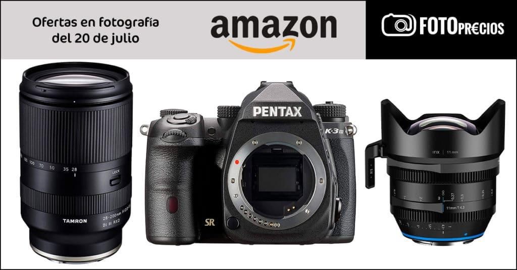 Precios mínimos de fotografía del 20 de julio en Amazon.