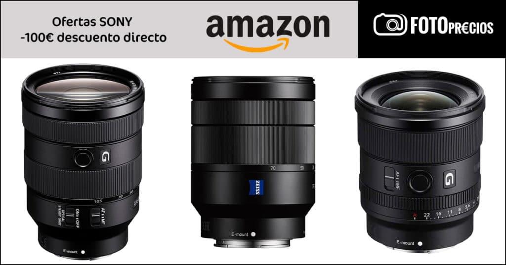 Ofertas cámaras y objetivos Sony, julio 2021 en Amazon.