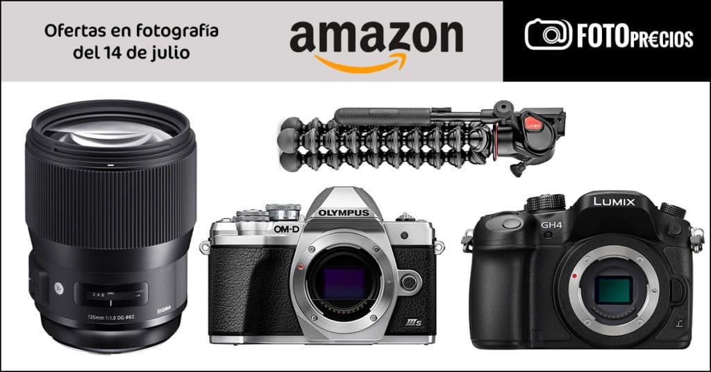 Ofertas en fotografía del 14 de julio en Amazon.
