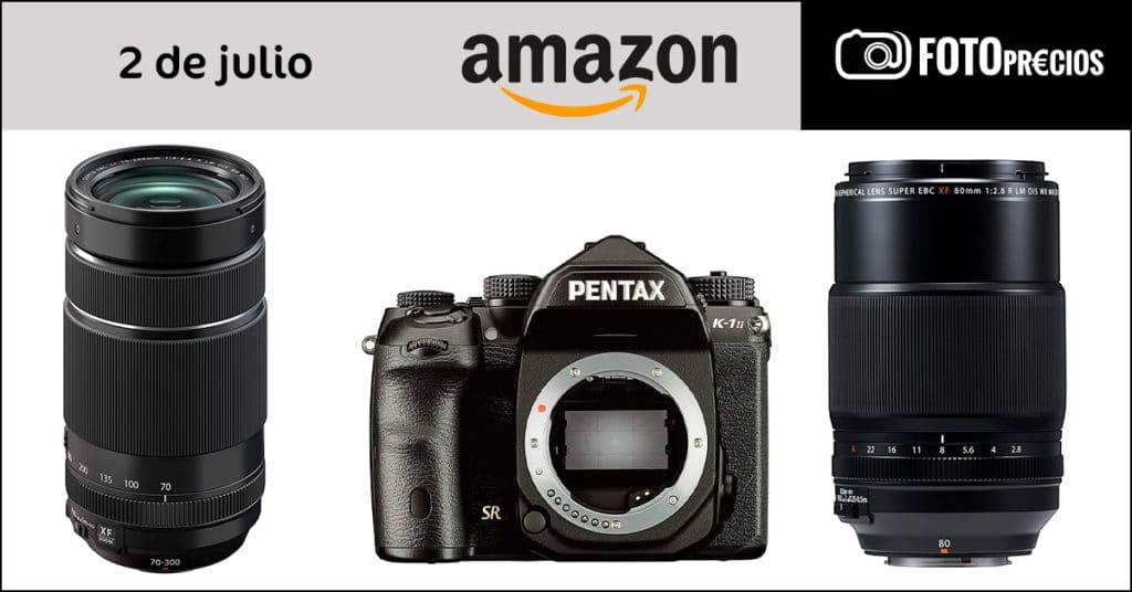 Precios mínimos de Fujifilm y Pentax en Amazon. Julio 2021.