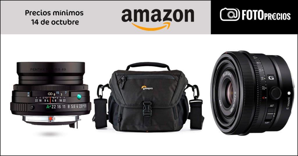 Precios mínimos en fotografía del 14 de octubre en Amazon.